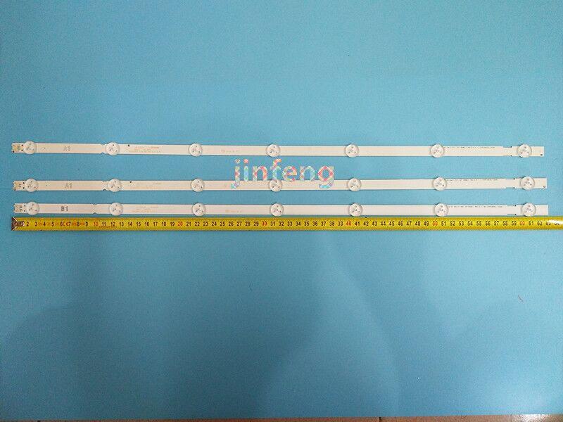 (Nuevo Kit) 3 uds (2 * A1 1 * B1) 7LED 630mm tira de LED para iluminación trasera para LG 32LN5700 6916L-1204A 6916L-1426A