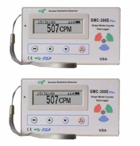 Two GQ GMC-300E+V4 Nuclear Radiation Detector Data logger Beta Gamma detection