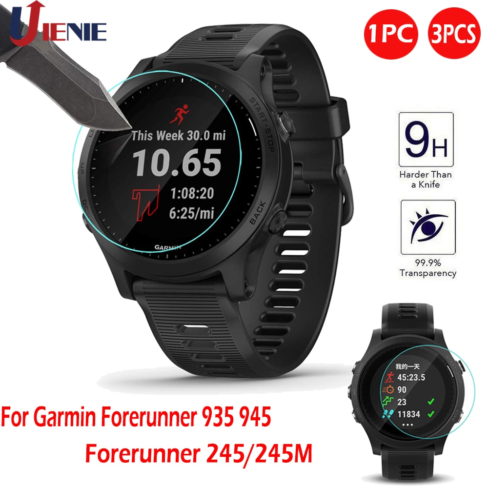 Tempered Glass Screen Protector Film for Garmin Forerunner 935 945 245 245M 45 Sport Smart Watch Bra