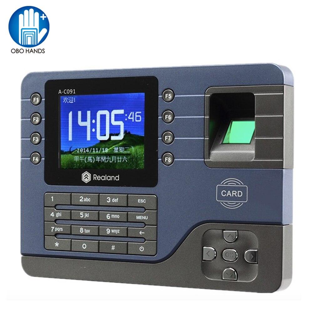 Биометрический считыватель отпечатков пальцев TCP/IP/USB, 3,2 дюйма, часы, записывающее устройство для распознавания отпечатков пальцев, машина Realand EM card, A-C091
