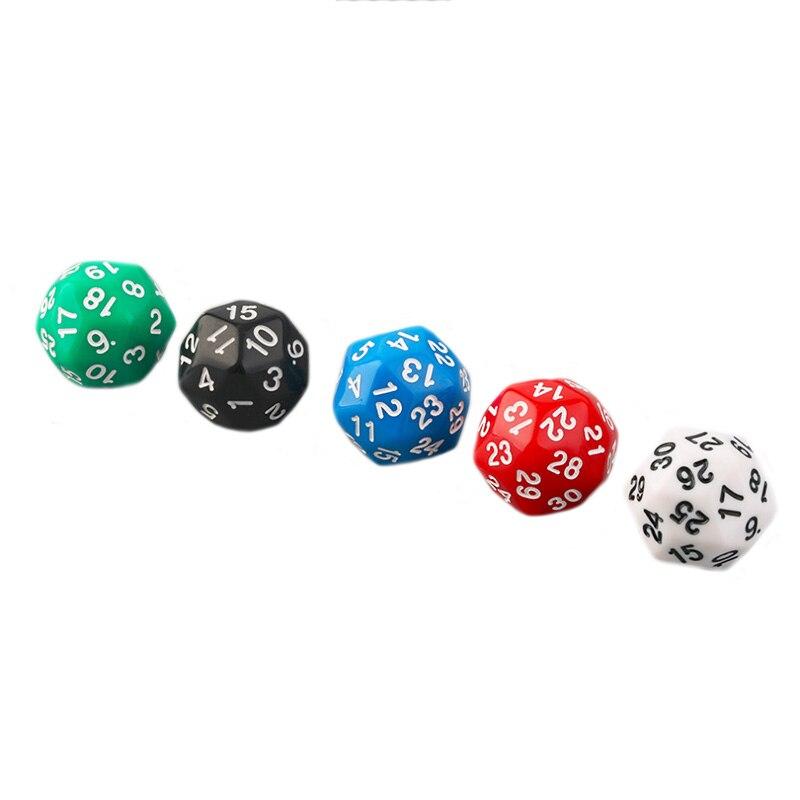 1 piezas de lados jugar juego de dados 30 DE D30 dados grandes juguete calabozo y dragones juego Poker poliédrico los dados