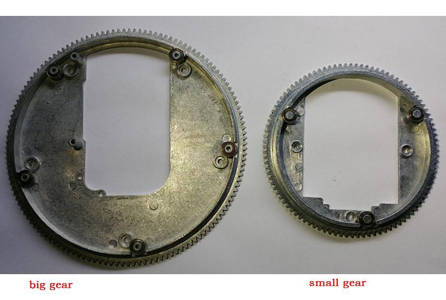Henglong 3818 3819 3838 3839 3848 3858 3868 3869 3878 3888 3898 1/16 RC tank металлические детали для модернизации, большая шестерня + маленькая шестерня