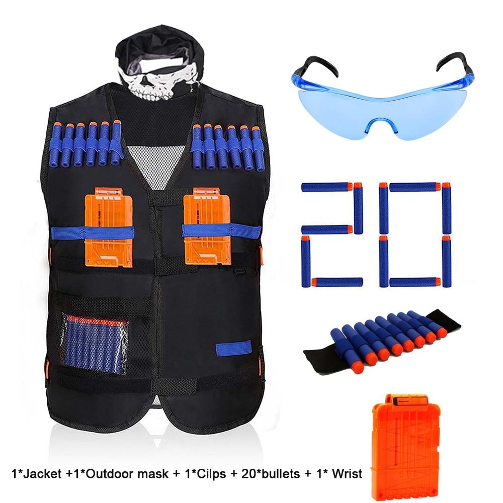 2020 Top Quality Tactical Equipment Gun shuttle Bullet Magazine for Nerf Gun Accessories Bullet Clip Compatible for Nerf Gun