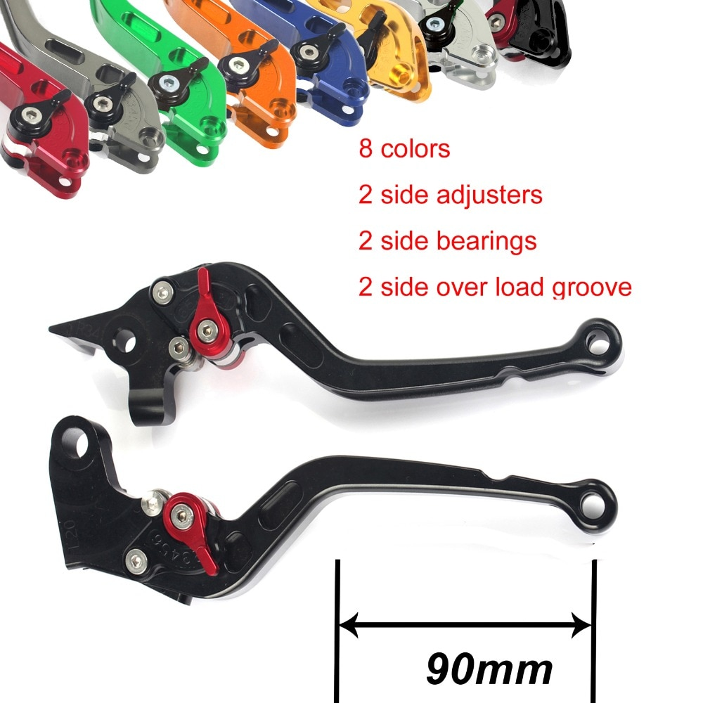 BIKINGBOY CNC Billet Long Straight Brake Clutch Levers For SUZUKI SV1000S 03-07 TL1000R 98-03 GSF 1200 Bandit N / S 01 02 03-06