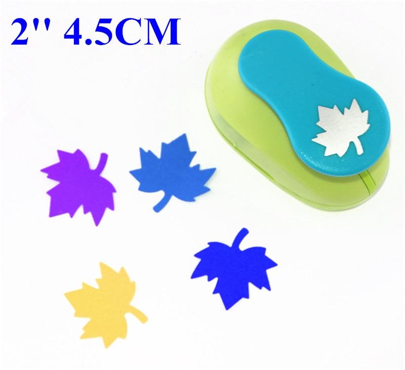 2 pulgadas (4,5 cm) Diseño de hoja de arce de golpe perforadoras para colección de recortes pry-920 de papel troqueladora para goma eva