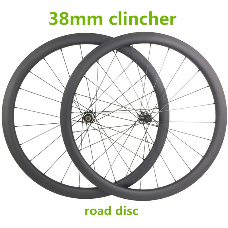 700c ホイールセット 38 ミリメートルクリンチャー 23 ミリメートル幅 D411SB D412SB 100 × 15 142 × 12 ミリメートルのレーシングバイクのカーボンホイール 1370 グラム道路自転車ディスクホイール
