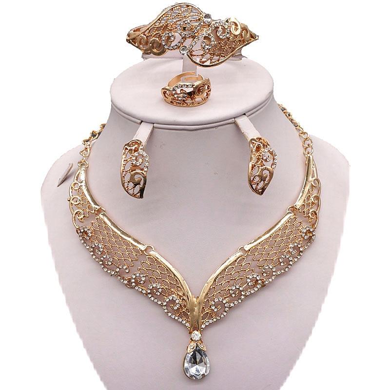 gold jewelry sets women necklace wedding fashion jewelry set nigerian african wedding jewelry sets bridal jewelry sets