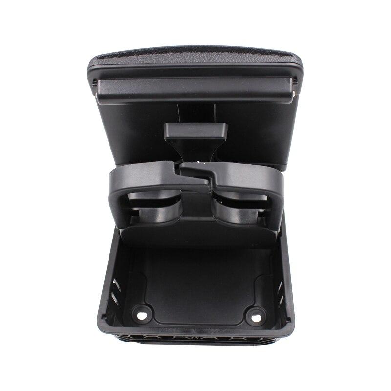 YAOPEI 1K0862532 consola central plegable portavasos trasero para Volkswagen Golf 5 6 negro 1K0862533