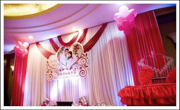Wedding Background backdrops 6m*3m Wedding curtain wedding props stage background veil