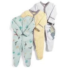 Combinaison automne-hiver pour bébé   3 pièces, combinaison pour dormir, pyjama imprimé de dinosaure, vêtements pour bébé fille, combinaison pour nouveau-né, 2019