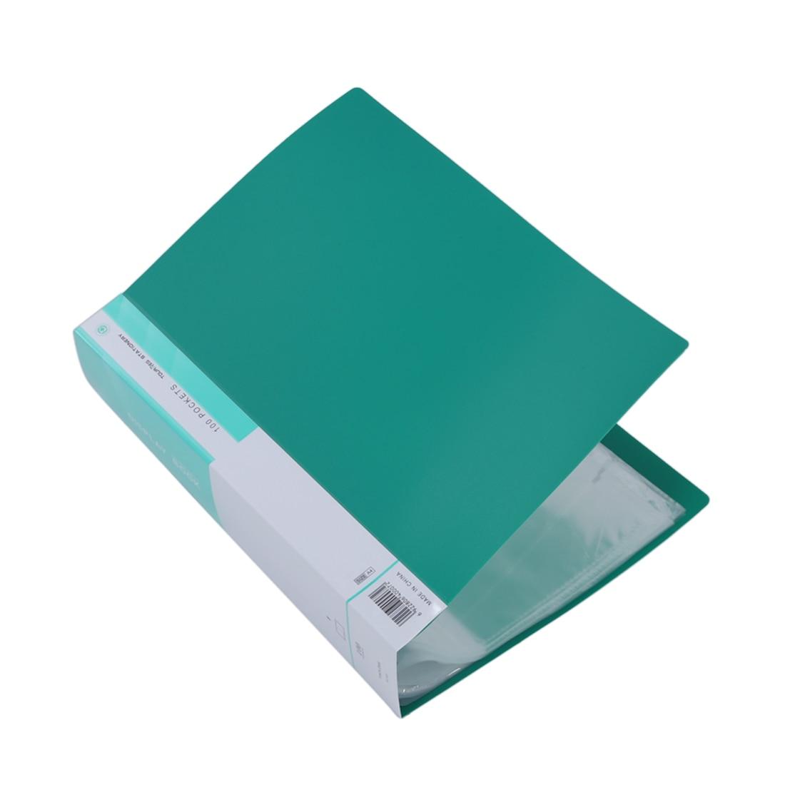 Carpeta portafolio de almacenamiento de documentos de presentación de libro de exhibición de HOT-A4 100 bolsillos