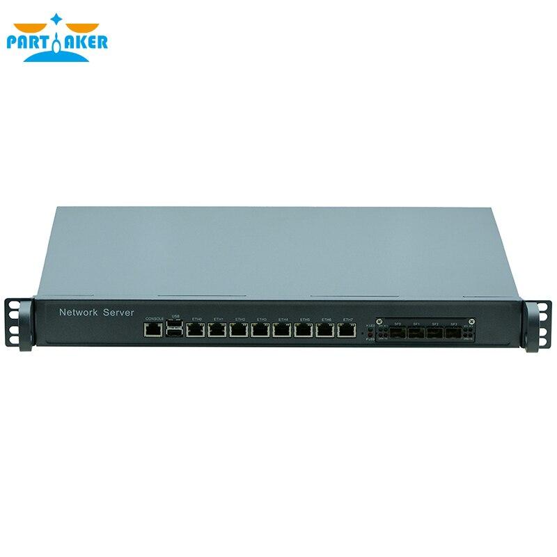 Participante f8 1u firewall pc roteador com i3 4160 i5 4430 i7 4770 processador 8 portas gigabit lan 4 spf pfsense ros