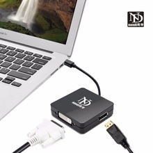 Thunderbolt 2 hub multi-fonction dock Mini Displayport vers hdmi dvi DP adaptateur convertisseur de câble pour MAC macbook pro AIR hdtv