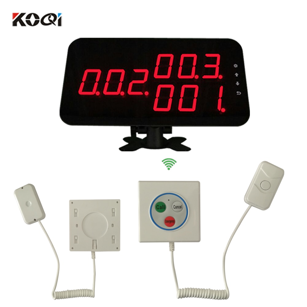 Hot Sell Patient Call Bell System Multi-key Button Show 3-digit Number Display With 433.92Mhz Hotspital