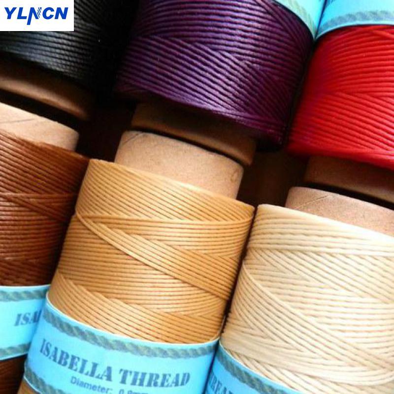 50 metros 150d mão tecelagem linha de cera plana couro ponto mão bagagem saco de couro artesanato linha ferramentas costura