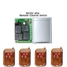 433 Mhz Télécommande Sans Fil Commutateur DC 12 V 4CH relais 1527 code dapprentissage Module Récepteur et 4 pièces 433 Mhz RF Émetteur À Distance