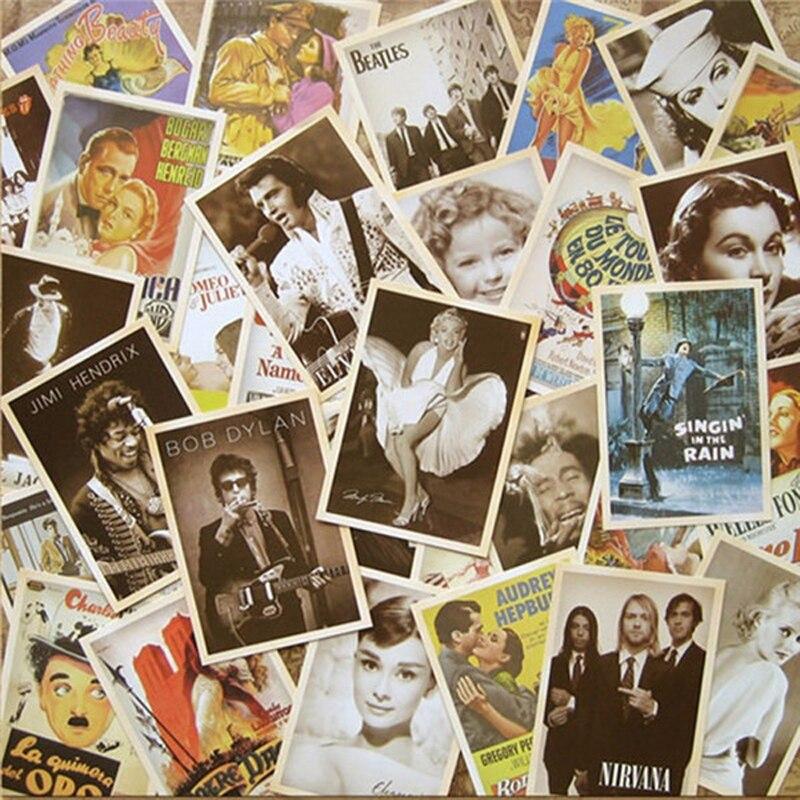 32 шт., классические старые фотографии, стильные открытки, Мультяшные открытки, постеры для рисования, поздравительная тема, винтажные колле...