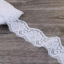 Ruban en Tulle Wave blanc pour ornements   1 paquet = 10yards 3.5cm, ruban en dentelle élastique extensible pour bébés filles, accessoires de cheveux