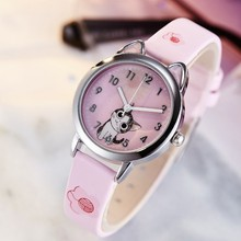 New Arrival Cute Cat Children Fashion Quartz Wristwatches Jelly Kids Clock Boys Girls Students Watch