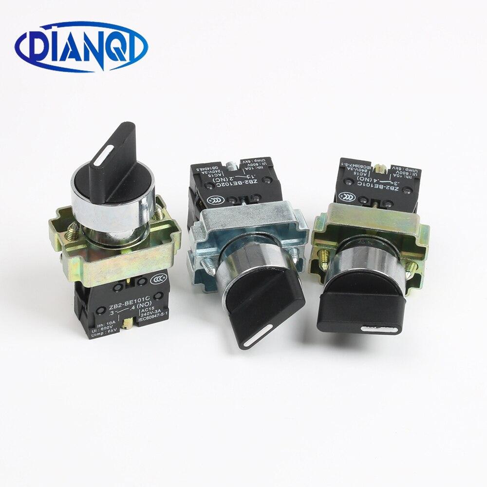 Кнопочный переключатель для самостоятельной фиксации, XB2-BD21 BD25 BD33 BD53 BD73 1NO/2NO/1NO1NC 2/3