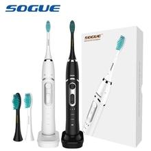 SOGUE Sonic elektrikli diş fırçası Maglev Motor 6 modları USB şarj su geçirmez 2 FDA fırça kafaları S61 Escova de Dente Eletrica Sonico