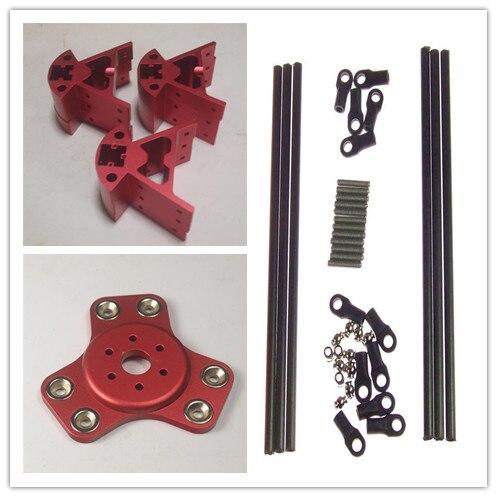 Color rojo Delta Rostock Kossel k800 magnético de aluminio efector transporte + esquina kit + 300MM Kossel Mini Kit