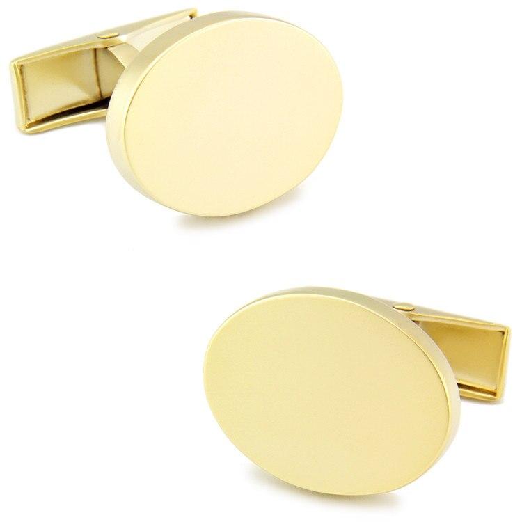 Спарта золото Гальваническое + высокое качество металла матовые эллиптические запонки + Бесплатная Доставка! Высококачественные металличе...