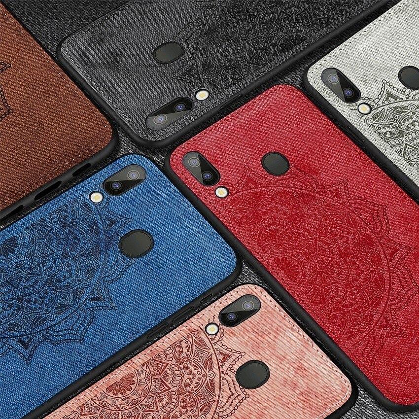 Funda de cuero para teléfono funda para Samsung Galaxy M10 M20 A30 A40 A50 A70 J4 J6 Plus Couqe Mandala flor piel PU