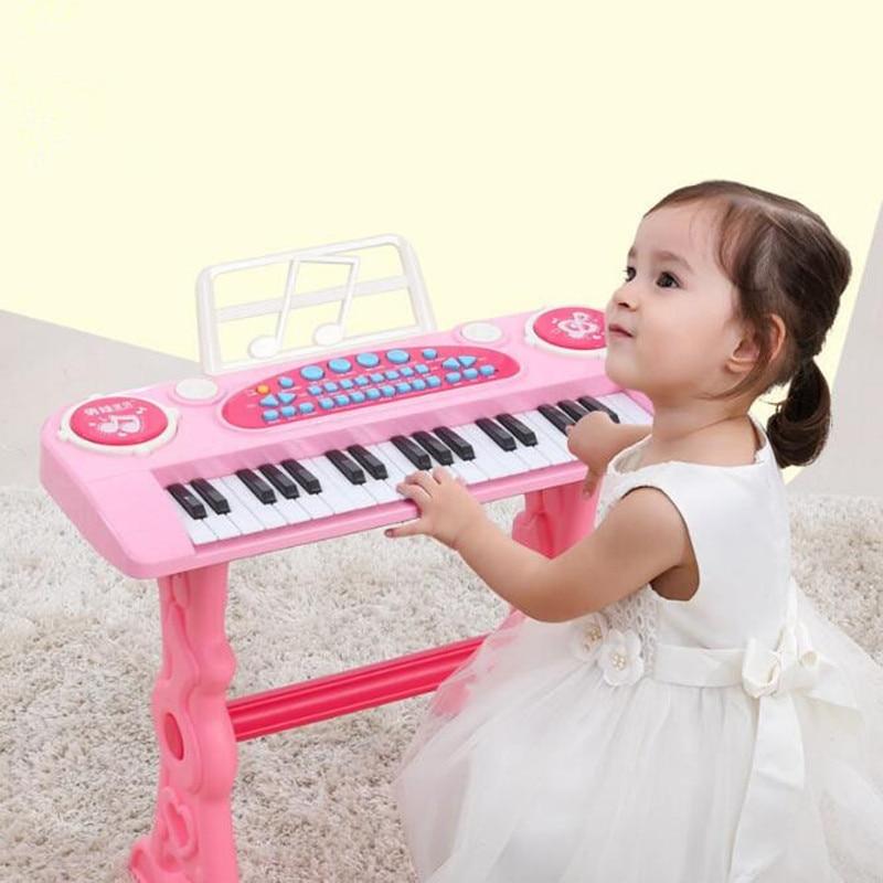37 chave eletronica teclado jogador tambores 2 em 1 brinquedo piano indoor criancas