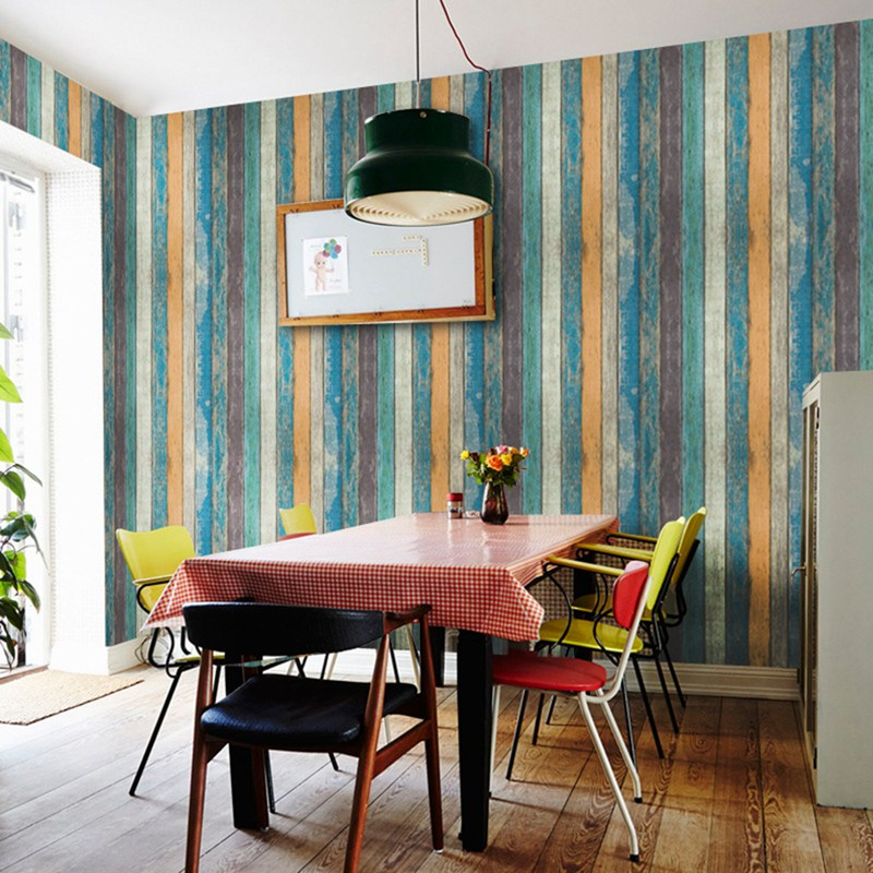 Papel tapiz Vintage de grano de madera, Mural artesanal, papeles de Pared...
