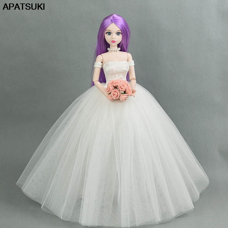 Pelo púrpura romántico 1/4 BJD desnudo XINYI muñeca 3D ojos reales desnudo 46cm Original muñeca cuerpo y cabeza maquillaje muñeca para Cosplay DIY para muñecas