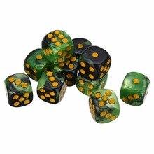 Nouveau 10 pièces/ensemble Spot dés 6 côtés dés Portable Table jeux partie barre outil 9 couleurs populaire jeu de plein air 12mm acrylique dés