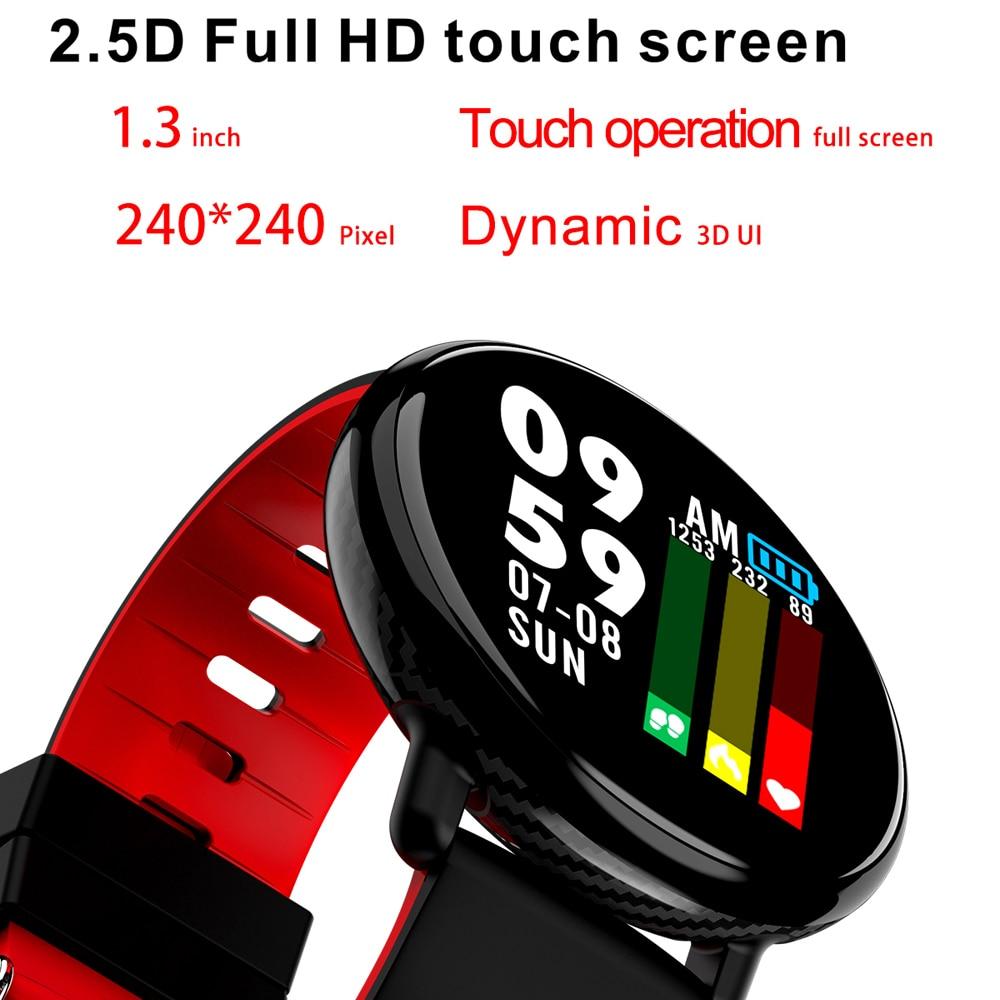 SENBONO Smart Band IP68 Monitor de ritmo cardíaco a prueba de agua y presión arterial IPS reloj de pantalla completamente táctil para Android IOS pulsera inteligente