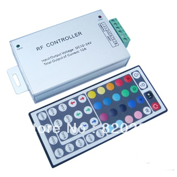 free shipping 3pcs/lot  DC12V-24V 3*4A  RGB led controller aluminum housing with 44key Remote