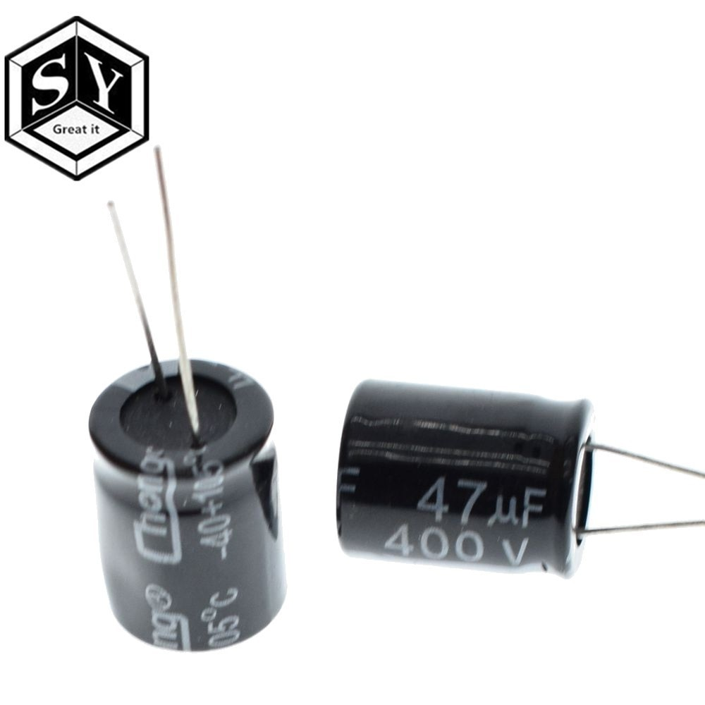Gran 10 Uds 400V 47UF condensador electrolítico, 47UF 400V 105C 16x25mm