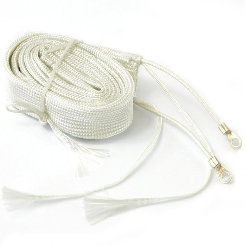 Cinta térmica de fibra de vidrio 220V 1 M de largo 100W temperatura para tubería de agua seca calentador eléctrico banda de alambre cinta de fibra de vidrio P0.05