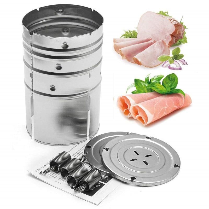 Molde de hamburguesa máquina de prensado de jamón fabricante de carne de acero inoxidable cocina de prensa de jamones hervidos utensilios de cocina
