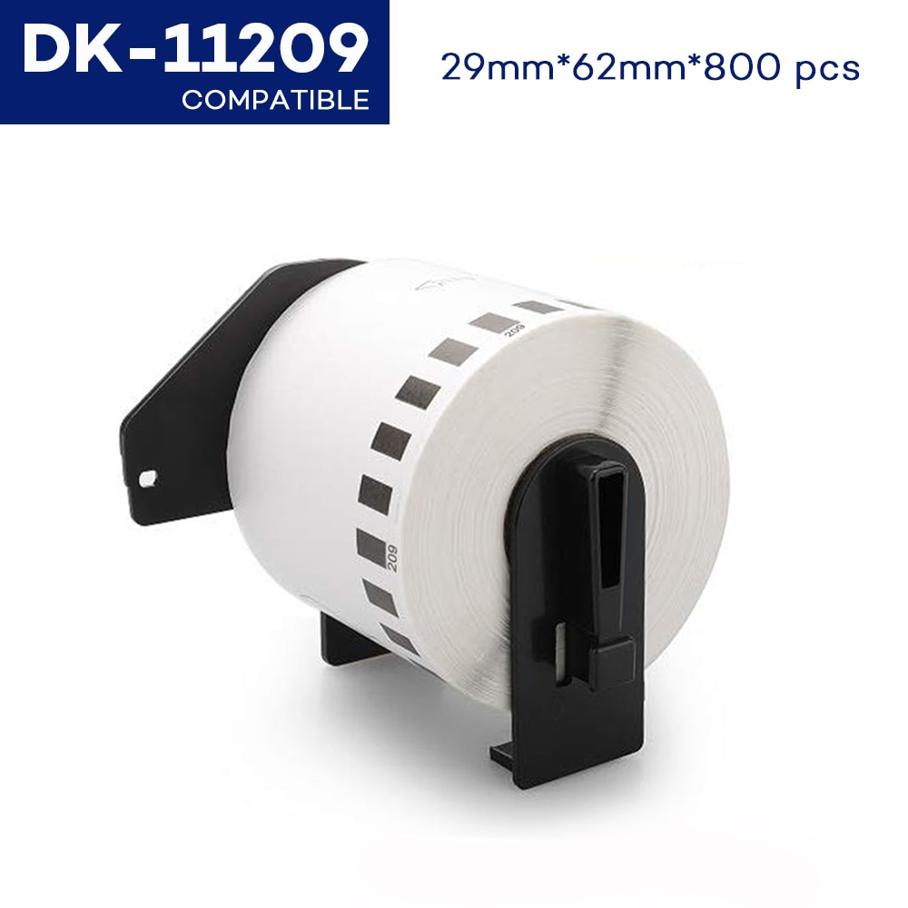 CIDY Compatible pour les étiquettes Brother Dk-11209 62mm x 29mm 800 étiquettes par rouleau autocollant thermique Dk 11209 DK 1209 Dk1209