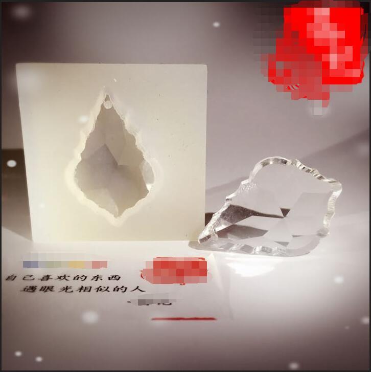 1 unidad, colgante DIY con forma de diamante, Moldes de resina epoxi espécimen de flores secas, herramientas de accesorios para joyería, moldes de resina para joyería