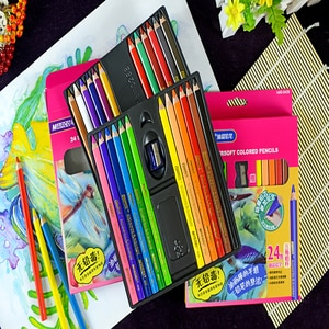 12/24 Color  Pencils Thick Oily Lead Suit Children Student  Series Child Stationery
