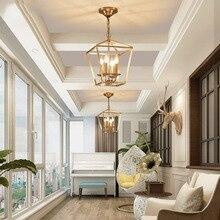 Diamant style cuivre laiton doré suspension chaîne suspension lampe oiseau cage nid salle à manger salon doré pendentif lampe lumière