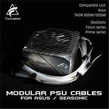 FormulaMod Fm-HS-SL, Completamente Modulare PSU Cavi, 18AWG Argento Placcato, per Asus THOR & SeaSonic di Messa A Fuoco/Prime Serie Modulare PSU