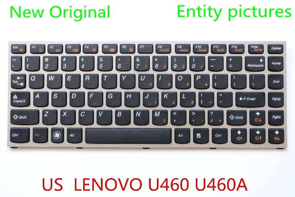Новая Оригинальная клавиатура для ноутбука LENOVO U460 U460A US