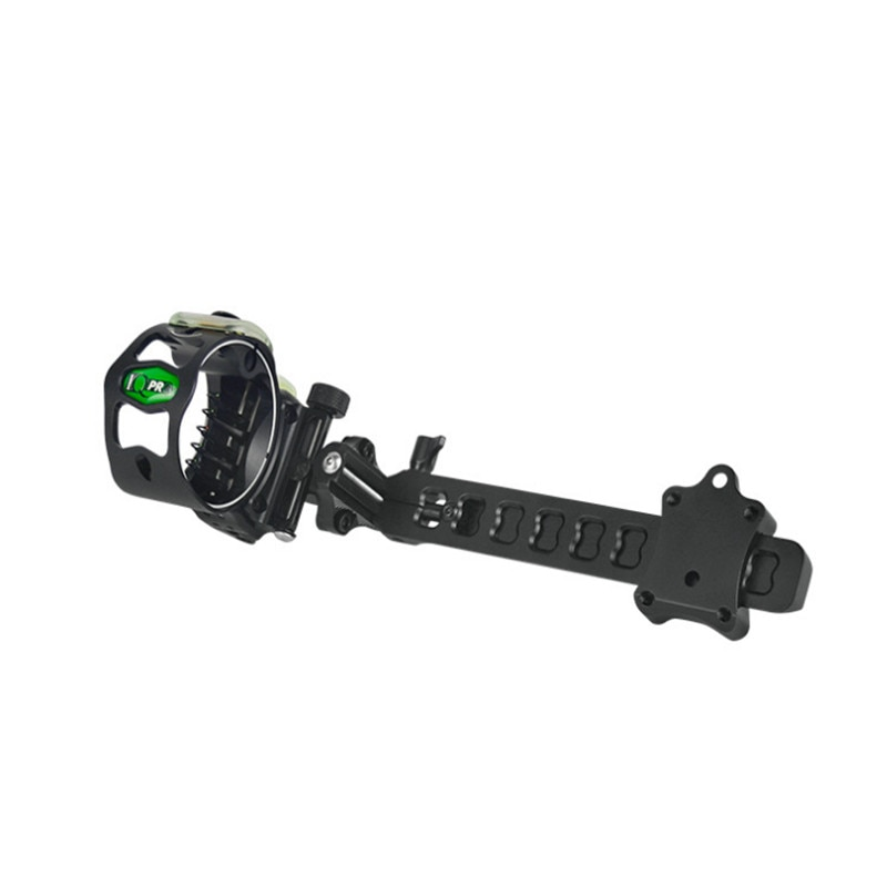 5 pinos IQ Composto Arco Vista Laser Iluminado Por Micro Bowsight com Visão de Fibra Óptica Luz de Caça