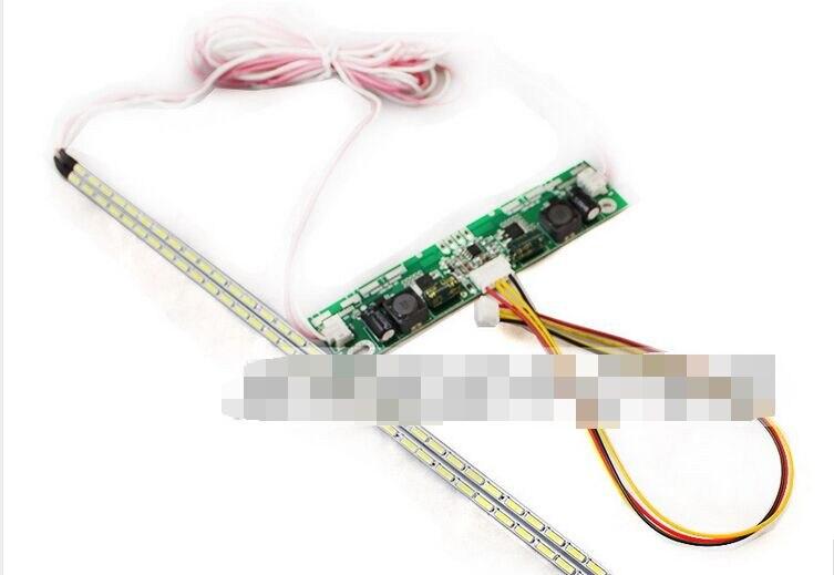 ¡Nuevo! Kit de actualización de lámparas de luz de fondo de tira de placa de aluminio LED de 42 pulgadas para pantalla LCD, Panel de TV, 2 tiras LED de 475mm, Envío Gratis