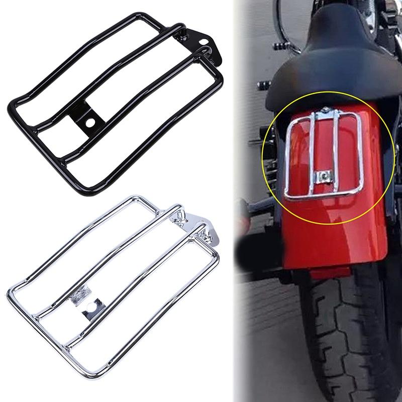 Motorcycle Parts Luggage Rack Carrier Bike For Harley Sportster XL883 1200 Luggage Rear Fender Rack Support Shelf Black/Chrome