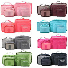 6pcs Travel Waterproof Organizer Bag Clothes Pouch Portable Storage Case Luggage Suitcase Storage bag Fashion