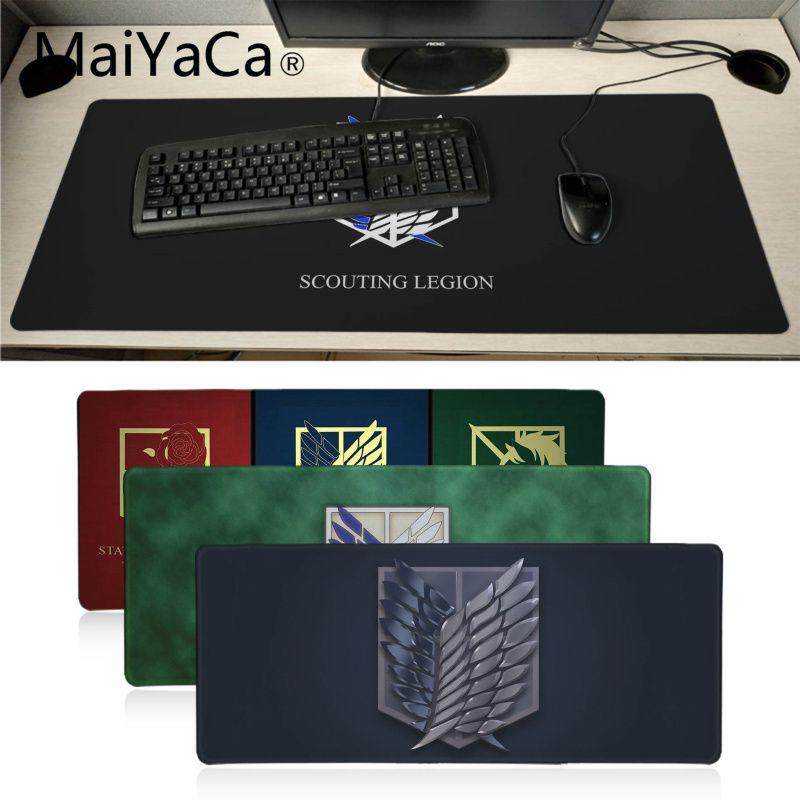 MaiYaCa, gran oferta, alfombrilla de ratón para ordenador portátil de ataque a los Titanes, alfombrilla de ratón de anime para PC, portátil, Notebook para dota2 LOL gamer