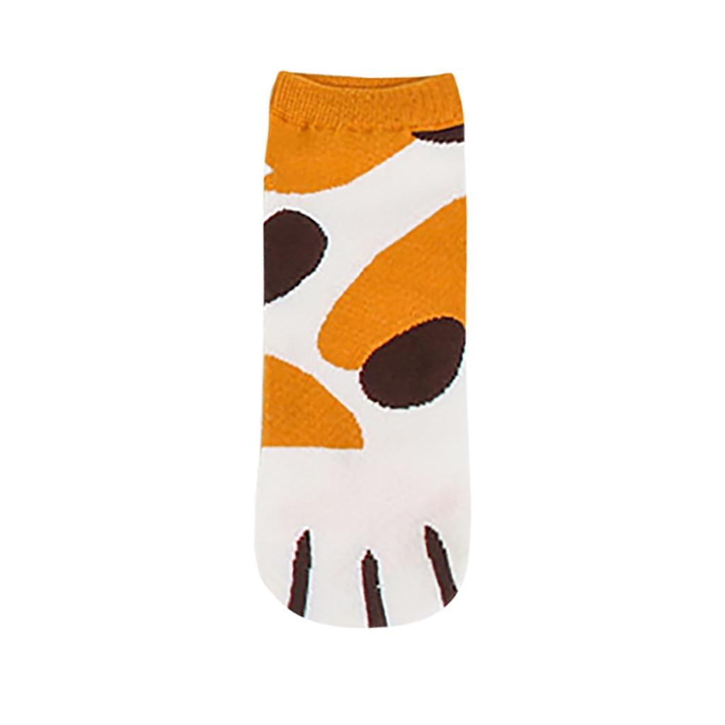 Nuevos calcetines CHAMSGEND de dibujos animados para mujer, calcetines de algodón con garras de gato, calcetines de barco transpirables con boca baja, calcetines casuales cómodos, bonitos