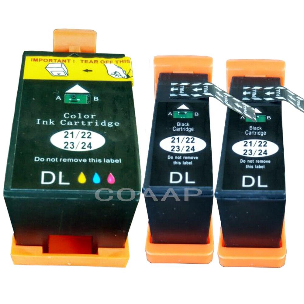 3 Ink Cartridges For Compatible Dell V313 V313W V515W P513W P713W V715W Printer 21/ 22 series